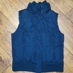 Dark Teal WARM Puffer Vest MERONA Small